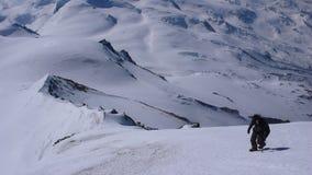 Катание на лыжах зимы backcountry около Alphubel в Швейцарии Стоковое Изображение RF