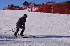 Катание на лыжах Пекина фольклорное Стоковые Изображения RF