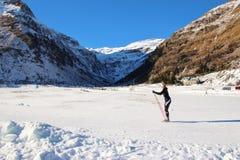 Катание на лыжах по пересеченной местностей в Sportgastein, Австрии, Европе Стоковое Фото