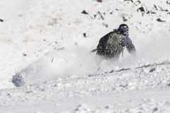 Катание на лыжах свободного всадника Стоковое Изображение RF