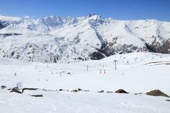 Катание на лыжах Франции Стоковое Фото