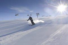 катание на лыжах Стоковые Изображения