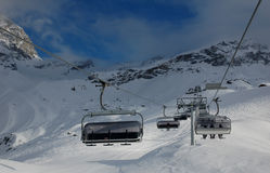 Катание на лыжах Cervinia Стоковое Фото