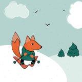 Катание на лыжах Fox Стоковые Фото