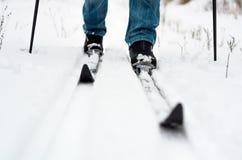 Катание на лыжах ross-страны ¡ Ð Стоковые Фото