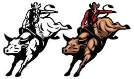 Катание Bull Стоковая Фотография