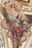"""КАТАНИЯ, ИТАЛИЯ, 2018: Картина Virigin Mary и душ в чистилище в церков Chiesa di Сан Francesco d """"Assisi стоковое фото rf"""
