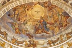 """КАТАНИЯ, ИТАЛИЯ, 2018: Слава Санта Agata в al Borgo Chiesa di Sant """"Agata церков кокосами Giovanni Lo от 18 r стоковая фотография"""