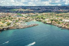 Катания, Сицилия - Марина Ognina Стоковое Изображение