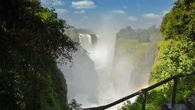 Катаракта дьяволов Victoria Falls сток-видео