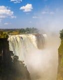 Катаракта дьяволов Victoria Falls стоковая фотография