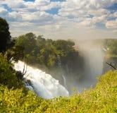 Катаракта дьяволов Victoria Falls стоковые изображения rf