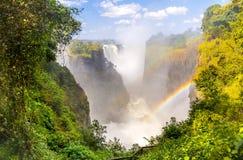 Катаракта дьяволов Victoria Falls стоковое изображение