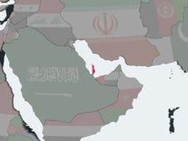 Катар с флагом на глобусе иллюстрация штока