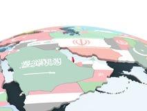 Катар с флагом на глобусе иллюстрация вектора