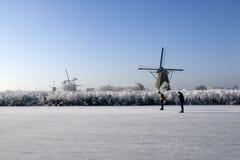 кататься на коньках Голландии Стоковые Фотографии RF