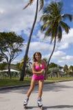 Кататься на коньках женщины Стоковая Фотография RF