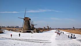 Кататься на коньках льда в Голландии Стоковые Изображения