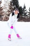 кататься на коньках льда девушки Стоковое фото RF