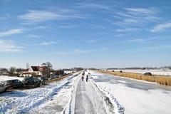 Кататься на коньках льда Нидерланды Стоковые Фото
