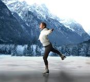 кататься на коньках льда Стоковое Фото