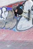 Кататься на коньках на катаясь на коньках парке Стоковое фото RF