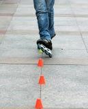 кататься на коньках ролика 3 Стоковые Фото