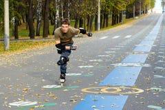 кататься на коньках ролика Стоковая Фотография RF