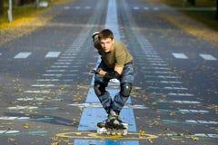кататься на коньках ролика Стоковые Изображения