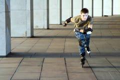 кататься на коньках ролика Стоковая Фотография