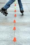 кататься на коньках ролика Стоковые Фотографии RF