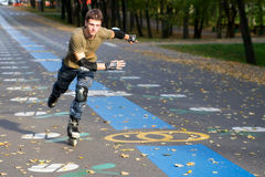 кататься на коньках ролика Стоковые Изображения RF