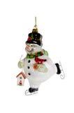 Кататься на коньках снеговика Стоковое Фото