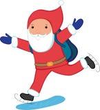 кататься на коньках claus santa Стоковая Фотография RF