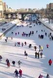 кататься на коньках rideau ontario ottawa канала Канады Стоковая Фотография
