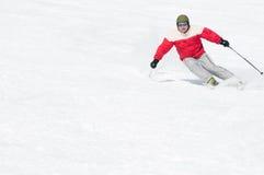 кататься на лыжах людей Стоковые Фотографии RF