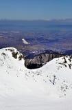 Кататься на лыжах в горах Tatra в Польше Стоковая Фотография