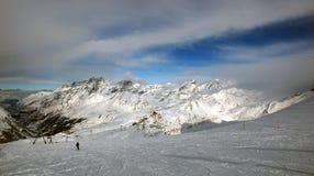 Кататься на лыжах в Италии Стоковые Фото