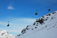 Кататься на лыжах в Италии 2 Стоковая Фотография