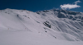 Кататься на лыжах в Италии Стоковые Фотографии RF