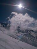 Кататься на лыжах в Италии Стоковые Изображения RF