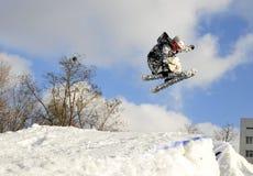 Кататься на лыжах в Kyiv Стоковые Изображения RF