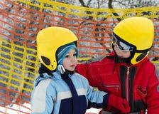 Кататься на лыжах детей Стоковое Изображение