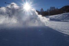 Катаясь на лыжах ломать Стоковая Фотография RF