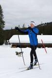 Катаясь на лыжах 5 стоковое изображение rf