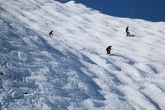 Катаясь на лыжах Whistler ДО РОЖДЕСТВА ХРИСТОВА Канада стоковая фотография rf