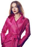 Каталог стиля моды пальто платья женщины сексуальный Стоковая Фотография