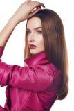 Каталог стиля моды пальто платья женщины сексуальный Стоковые Изображения RF