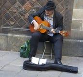 Каталонский музыкант в Барселоне Стоковая Фотография RF