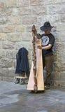 Каталонский музыкант в Барселоне Стоковые Фотографии RF
